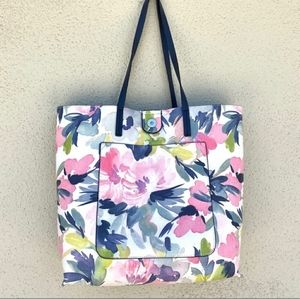 French Connection large reversible pu leather tote
